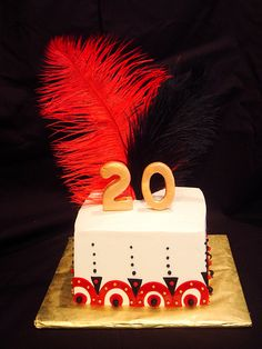 My niece wants a 20's themed cake...I love this!