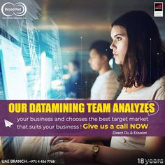 Our datamining team analyzes your business and chooses the best target market that suits your business ! Give us a call NOW 📲 Email: sales@broadnet.me UAE branch : +971 4 456 7768 #BroadnetTechnologies #smsmarketing #UAE #sms #الامارات_العربية_المتحدة