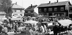 Akershus fylke Skedsmo kommune Lillestrøm Torget 1963 Utg Mittet