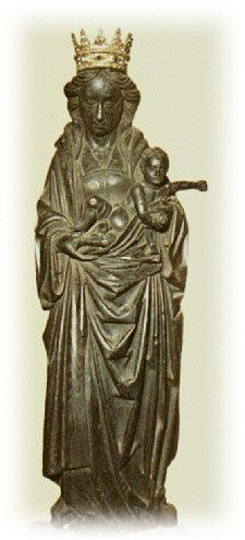 The Black Madonna, Our Lady of Dublin In the church of the Carmelite order of nuns in Whitefriar Street, probably early century, natural oak wood. Interesting article to read. Lady Madonna, Madonna And Child, Divine Feminine, Sacred Feminine, Saints, Archangel Raphael, Mama Mary, Holy Mary, Soul Art