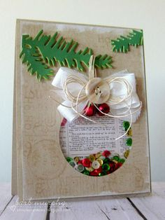 Reverse Confetti | November 8th Release | Tinsel 'n Trim | Holiday Card by Barb Murphy