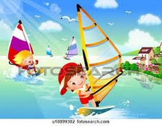 Image result for children at the sea-side images
