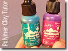 5 ways to use alcohol inks with polymer clay