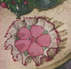 Rose Ruffle Doily Crochet PATTERN from 71 Star by BlondiesSpot