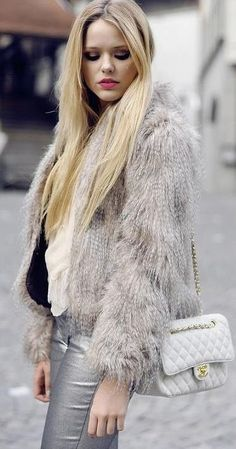 get out my white fur jacket this winter