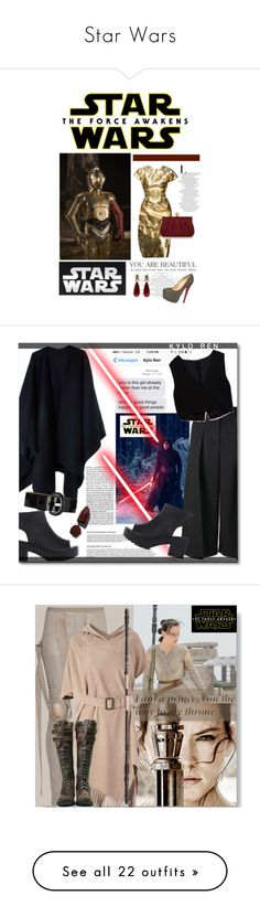 """Star Wars"" by watereverysunday ❤ liked on Polyvore featuring Dolce&Gabbana, Wilbur & Gussie, Christian Louboutin, starwars, contestentry, Acne Studios, Erdem, Zara, Karen Millen and Lipstick Queen"
