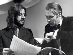 Ringo and the late, great Beatles producer, Sir George Martin.