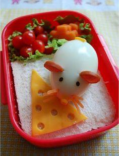 Мышка #bento #food #funnyfood