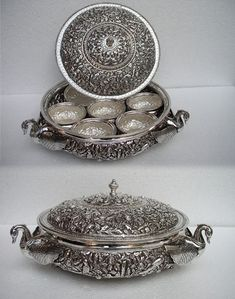 Silver Bowl with Katori Vintage Silver, Antique Silver, 925 Silver, Sterling Silver, Silver Lamp, Silver Rings Handmade, Silver Gifts, Silver Jewellery Indian, Silver Jewelry
