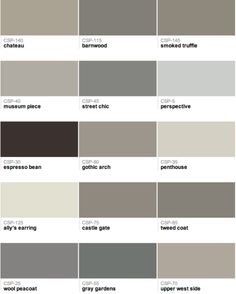 gray |Benjamin Moore selection] links to a blog with nice inspirational photos paired with their paint colors