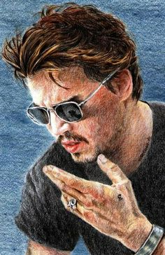 Johnny Depp by vividec {from Italy} ~ colored pencils