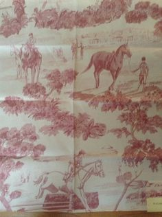 Ralph Lauren Toile Equestrian Horse fabric by FrenchCountryGirl