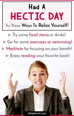 Had A Hectic Day! Try Out These #BestWaysToRelax Yourself