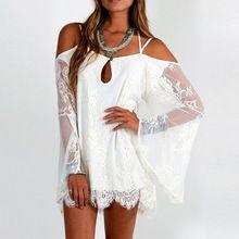 Mini vestido de verano, feitong notable Hippie de Boho People bordado Floral bohemio del cordón del ganchillo Beach Dress del vestido blanco(China (Mainland))