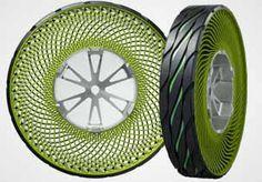 Image: Bridgestone's airless tire concept (Courtesy of Car & Driver)  LOVE THE COLOR! lol