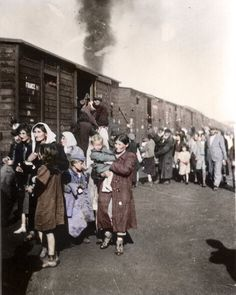 1942 Poland, men, women and children sent to concentration death camp Treblinka