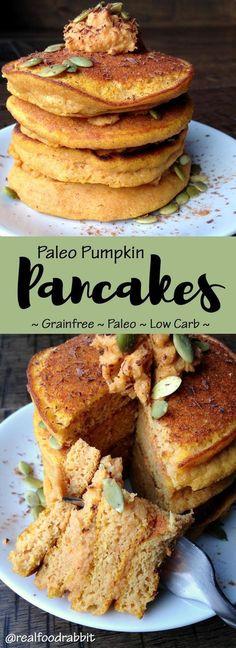 Paleo Pumpkin Pancakes (grain-free, gluten-free, no refined sugar)