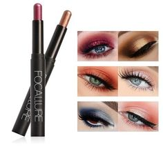[New] The 10 Best Eye Makeup Today (with Pictures) - FOCALLURE Eyeshadow Pencil authentic Price Available in all 12 shades DM to see the shades and to place the order . Eyeshadow Pencil, Smokey Eyeshadow, Highlighter Makeup, Eyeshadow Makeup, Neutral Smokey Eye, Shimmer Eye Makeup, Smokey Eye Tutorial, Black Eyeliner, Makeup Kit