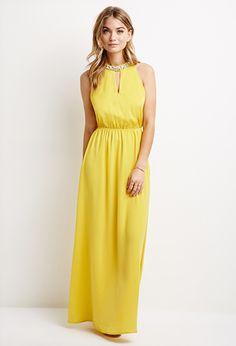 Yellow maxi dress forever 21