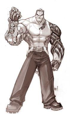 Iron sketch by Joe Madureira, sort of looks familiar. This is the first time I've ever seen this. Like it...