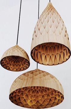 Edward Linacre uses bamboo veneer to produce textured lighting