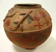 Clay Pot Ukhamba In Zulu Used For Storing Beer A