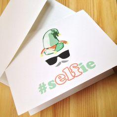 Selfie Elf - Funny Christmas Card / Selfie / Hipster / Merry Christmas / Seasons Greetings / Winter Holiday