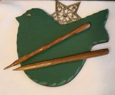 Hair stick made from Walnut by AllThingsWood on Etsy, $9.99