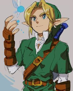 The legend of Zelda fan art - Link and Navi