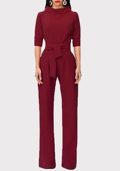 New Sexy Women Solid Jumpsuit Romper Turn Down Collar Wide Leg Pants Trousers with Belt Jumpsuits For Women Formal, Blue Jumpsuits, Long Sleeve Romper, Overall, Wide Leg Pants, Party, Fashion Outfits, Teen Fashion, Fashion Ideas