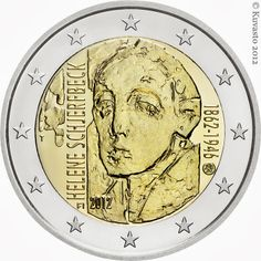2 Euro Commemorative Coins Finland 2012 Helene Schjerfbeck