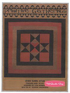 Ohio Barn Star Quilt Pattern Primitive Gatherings