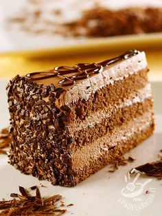 Torta Gianduia Delicious that you can't do anymore, Gianduia Cake is a dessert for all special occasions but also for a family dinner, to celebrate the goodness Chocolate Hazelnut Cake, Chocolate Pudding Cake, Sweet Recipes, Cake Recipes, Cookout Food, New Cake, Cake Servings, Pastry Cake, Cake Cookies