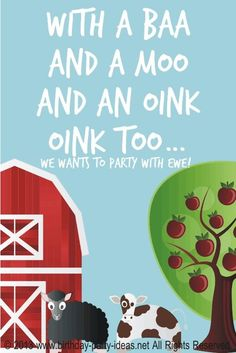 Farm Birthday Party #farm #party #birthday #theme