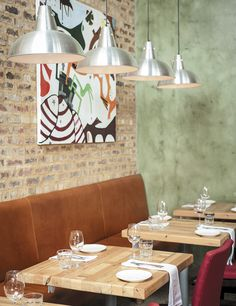 Embracing the 'farm to fork' and 'nose to tail' philosophies, Coobs is an exciting addition to Parkhurst's foodie-filled Fourth Avenue in Johannesburg Restaurant Design, Fork, Restaurants, Dining Table, Ceiling Lights, Entertaining, Recipes, Home Decor, Decoration Home
