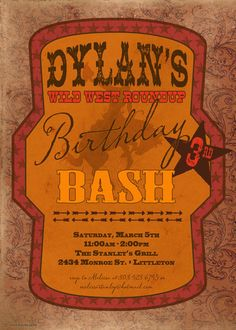 Olde West party invite