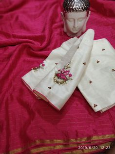 Buy Chiffon sarees with designer blouse collections online with price at siri designers Wedding Saree Blouse Designs, Saree Blouse Neck Designs, Blouse Patterns, Simple Blouse Designs, Stylish Blouse Design, Kids Blouse Designs, Chiffon Saree, Silk Sarees, India