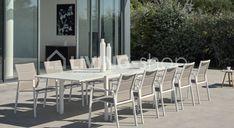 Diphano SELECTA tuinstoel met leuning, terrasmeubelen tafel en stoelen luxe www.living-shop.be