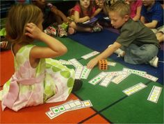 Lesson Plans Week One: Peek at My Week - Five frame pick up math station game.