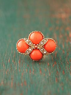 Coral Cluster Ring. #Free People $18.00