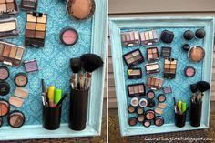 DIY - Quadro Organizador de Maquiagem