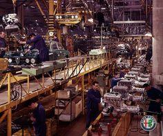 Alfa Romeo 2000 GTV assembly line (Arese, 1970)