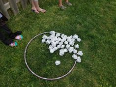 The galaxy was littered with asteroids, so the kids were split into two teams and then whichever team gathered the most won!  wadded tin foil and two hula hoops.  They wanted to play it over and over.