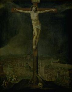 Christ on the Cross // 1549-1598 // Gillis I Mostaert  // Statens Museum for Kunst, Copenhagen