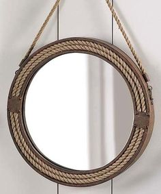 Love this Round Metal & Rope Wall Mirror by Giftcraft on #zulily! #zulilyfinds