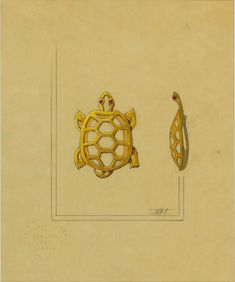 CARTIER. Study for a Turtle Brooch, 1940 style.  © Sotheby's