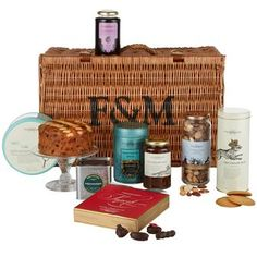 The Blenheim Hamper.  Filled with good strong flavours, such as Old English Hunt Marmalade and Sandringham Coffee, dark chocolates and Blackberry Preserve, this hamper will make a memorable gift.