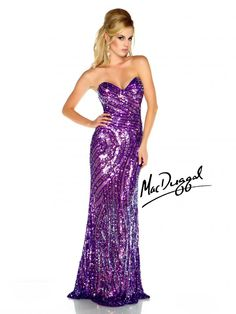 Purple Prom Dress With Sweetheart Neckline
