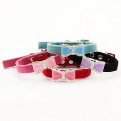 Armi store Rhinestone Bow Pet Dog Princess Collar  6041016 Puppy Traction Collar 4 Colors
