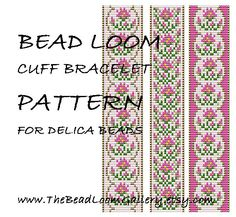 Bead Loom Cuff Bracelet Pattern Vol.41 - The October Cosmo - PDF File PATTERN